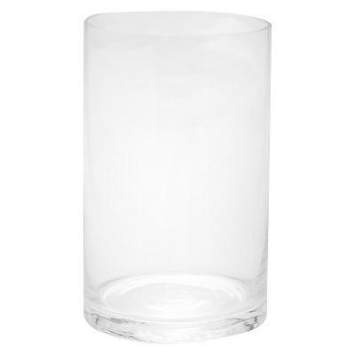8 x5  Glass Cylinder Vase - Diamond Star