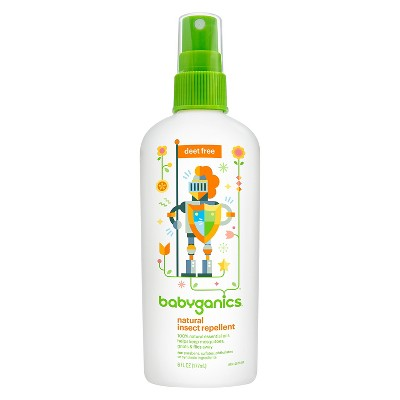 Babyganics Natural DEET-Free Insect Repellent - 6oz Spray Bottle