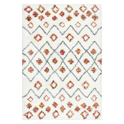 White Solid Loomed Area Rug 5'X8' - nuLOOM