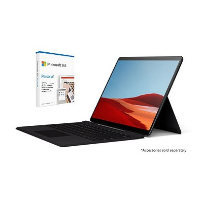 "Microsoft Surface Pro X VALUE BUNDLE 13"" Microsoft SQ1 16GB RAM 512GB SSD WiFi+4G LTE Matte Black+ Microsoft 365 Personal 1 Yr Subscription For 1 User"