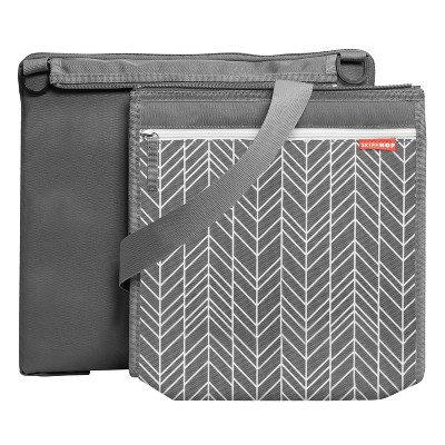 Skip Hop Central Park Outdoor Blanket & Cooler Bag - Gray Feather