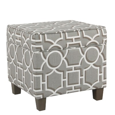Square Storage Ottoman With Lift Off Top   Homepop