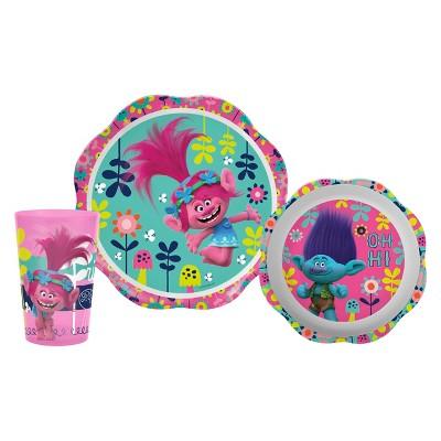 Trolls 3pc Kids Dinnerware Set - Zak Designs