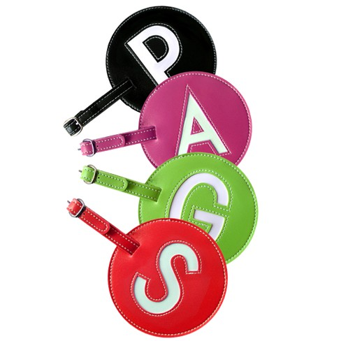 Pb Leather Initial Luggage Tags - Set of Two - image 1 of 1