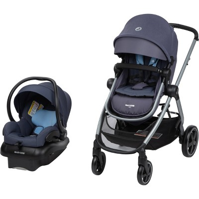 Maxi-Cosi Zelia 5-in-1 Travel System in Pure Cosi - Slated Sky