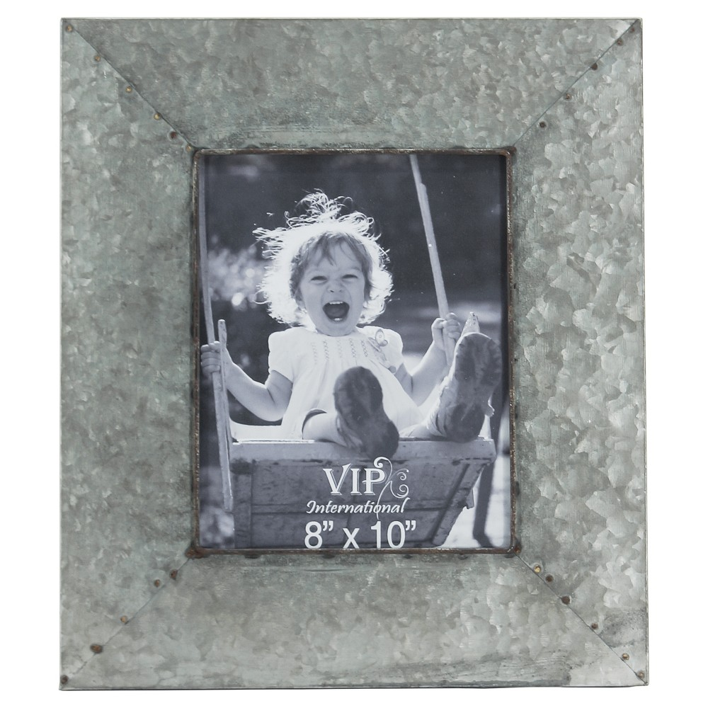 "Image of ""Metal Picture Frame Silver (8""""x10"""") - Vip Home & Garden, Grey"""
