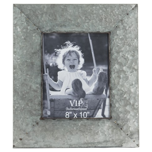"Metal Picture Frame Silver (8""x10"") - VIP Home & Garden - image 1 of 2"
