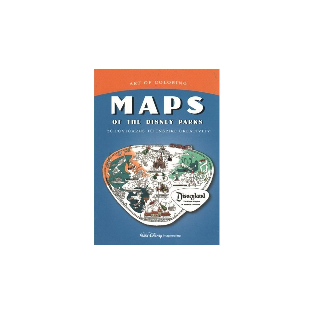 Maps of the Disney Parks : 36 Coloring Postcards to Inspire Creativity - (Stationery) This stunning collection of maps features original vintage illustrations from Disney parks around the world, each inked with care by the masterful graphics team at Walt Disney Imagineering. Color in the cards and bring to life gorgeous map sections featuring Disneyland the Magic Kingdom, Epcot, and more. Perfect for cultivating creativity, relaxation, and focus, these postcards are for you to keep and enjoy or mail to your friends and family.