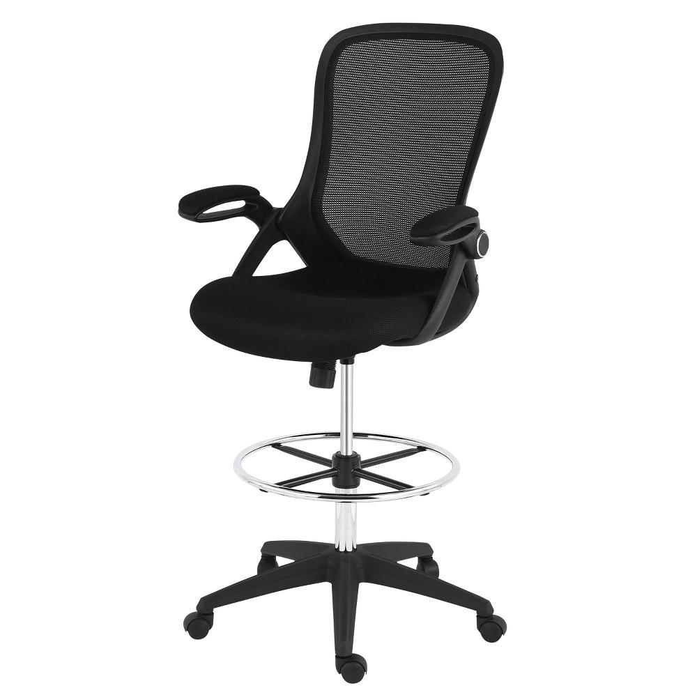 Stephanie Drafting Chair Black - Poly & Bark Promos