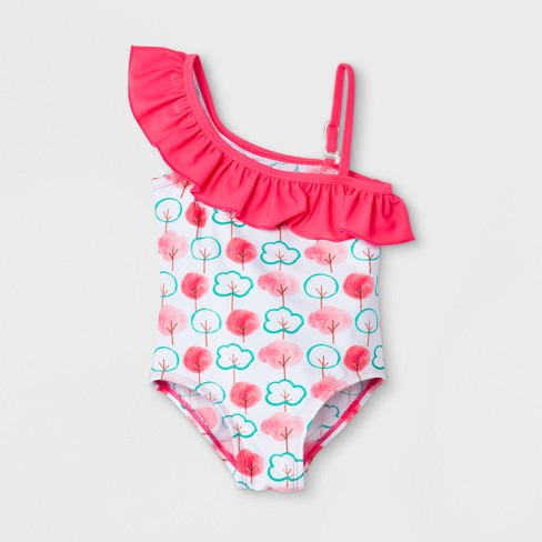 Floatimini Toddler Girls' Cotton Candy Trees One Piece Swimsuit - Pink - image 1 of 2
