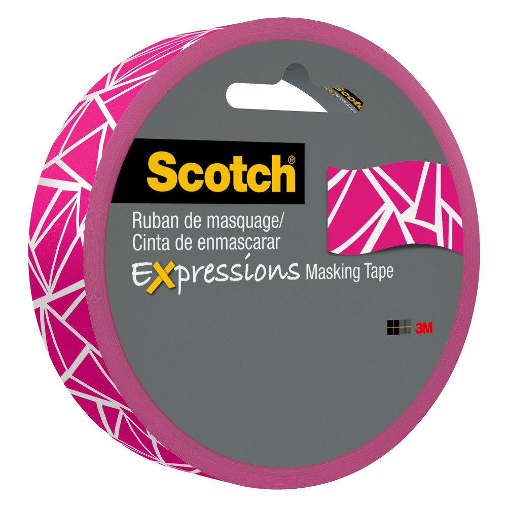 Scotch Washi Tape Pink - 20yds Scotch Expressions Masking Tape comes in a variety of colors and patterns that allow you to decorate and personalize your projects. Available in .94 inch by 20 yards. Color: Pink.