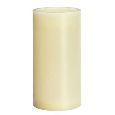 4  x 8  Vanilla Scented LED Pillar Candle Cream - Made By Design™