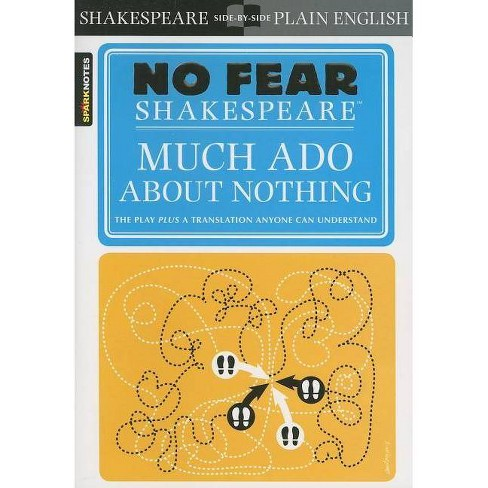 Much ADO about Nothing (No Fear Shakespeare) - (Sparknotes No Fear Shakespeare) by  Sparknotes - image 1 of 1