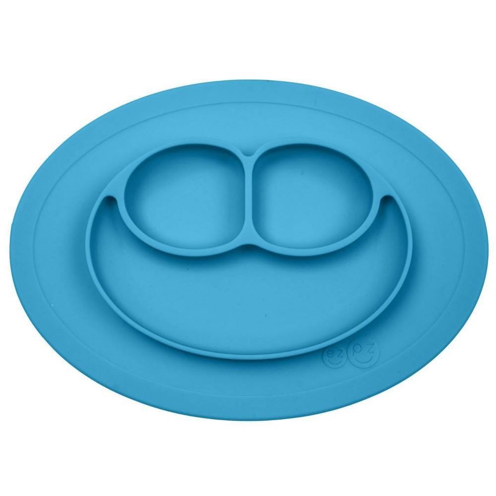 Image of ezpz Mini Mat - Blue, dining plates