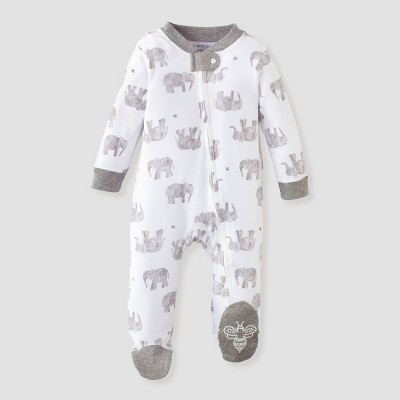 Burt's Bees Baby® Baby Organic Cotton Wandering Elephants Sleep N' Play - Gray 0-3M