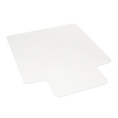 "36""x47"" Basyx Polycarbonate Chair Mat with Lip For Low Pile Carpet Clear - HON"