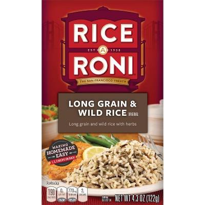 Rice A Roni Long Grain & Wild Rice - 4.3oz