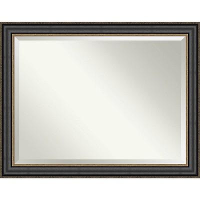 Thomas Bronze Framed Bathroom Vanity Wall Mirror Black - Amanti Art