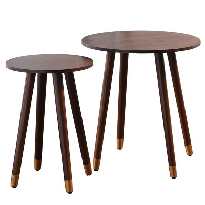 Set of 2 Roxie Rose Side Tables Expresso Brown - StyleCraft