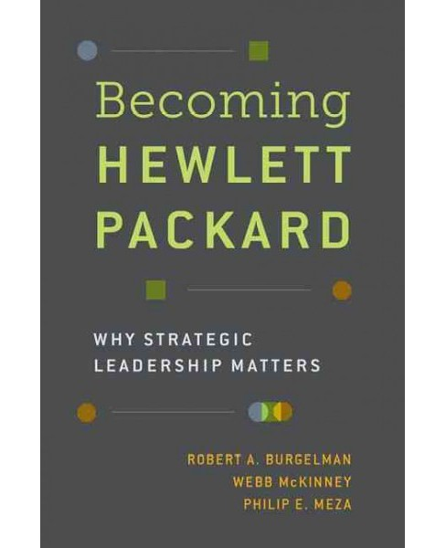 Becoming Hewlett Packard : Why Strategic Leadership Matters (Hardcover) (Robert A. Burgelman & Webb - image 1 of 1