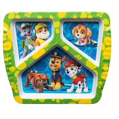 PAW Patrol Divided Tray Melamine 8.7  - Zak Designs