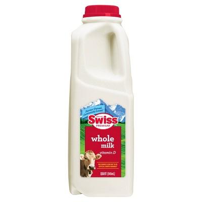 Swiss Premium Vitamin D Whole Milk - 1qt