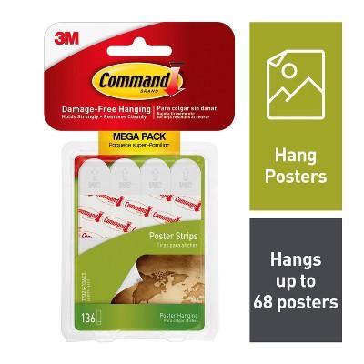 Command Poster Strips Mega Pack (136 Strips)White