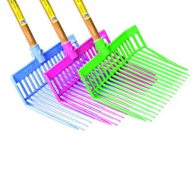 Miller Manufacturing PDF1A Set of 3 Plastic Little Giant DuraFork Gardening and Agricultural Bedding Forks for Farming Mulch, Manure, and Soil