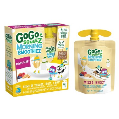 Gogo Squeeze Morning Smoothie - Berry - 3oz/4ct
