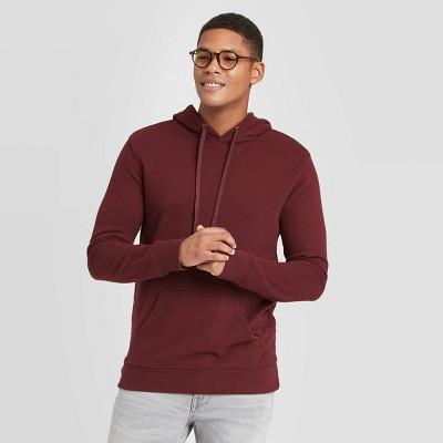 Men's Regular Fit Fleece Pullover Hoodie - Goodfellow & Co™ Pomegranate Mystery