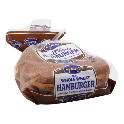 Franz 100% Whole Wheat Hamburger Bun 15oz