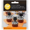 Wilton 12ct Paper Spider Halloween Cupcake Toppers Black - image 2 of 3