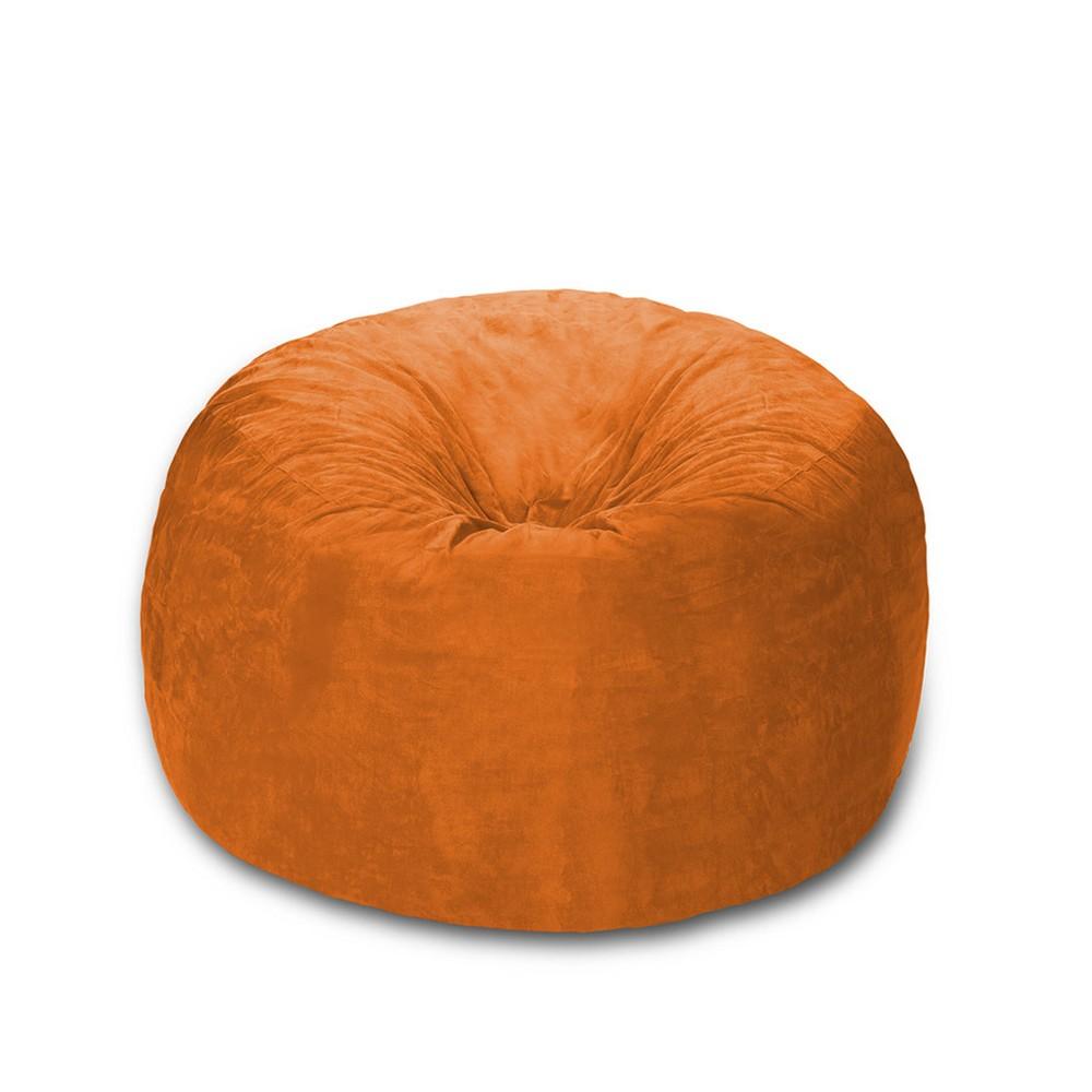 Image of 4 ft Microsuede Sack Orange - Relax Sack, Adult Unisex