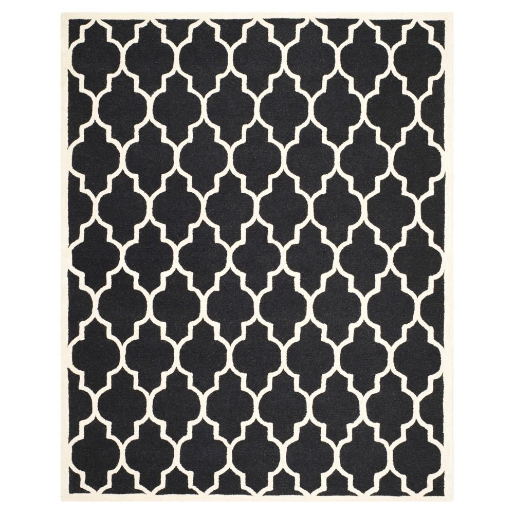 9'X12' Geometric Area Rug Black/Ivory - Safavieh