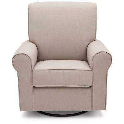 Delta Children Avery Nursery Glider Swivel Rocker Chair - Taupe