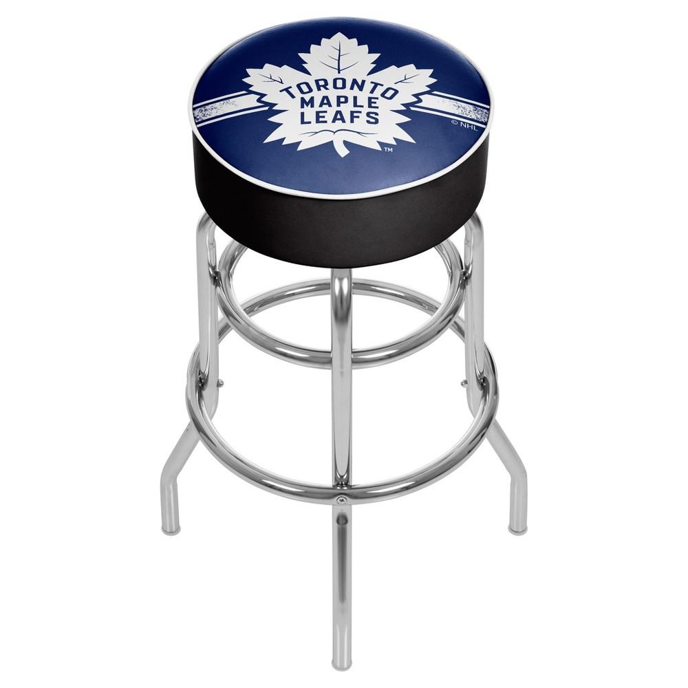 NHL Toronto Maple Leafs Chrome Bar Stool with Swivel