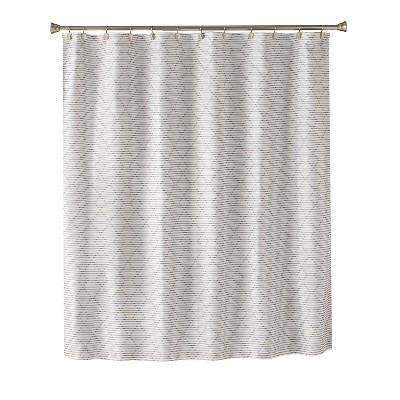Trellis Graphic Shower Curtain Light Gray - Saturday Knight Ltd.