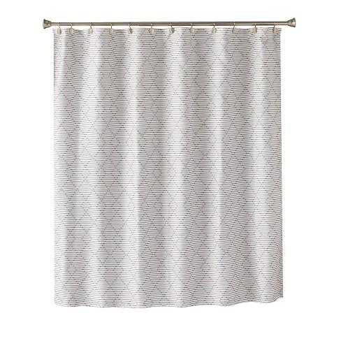 Trellis Graphic Shower Curtain Light Gray