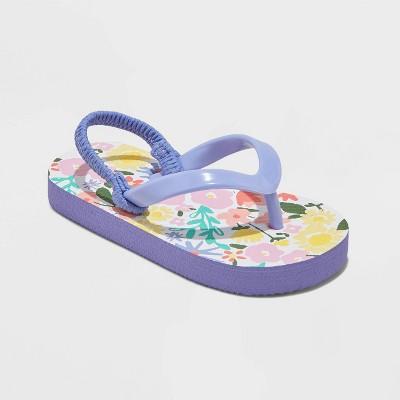 Toddler Girls' Adrian Flip Flop Sandals - Cat & Jack™ Lilac L (9-10)