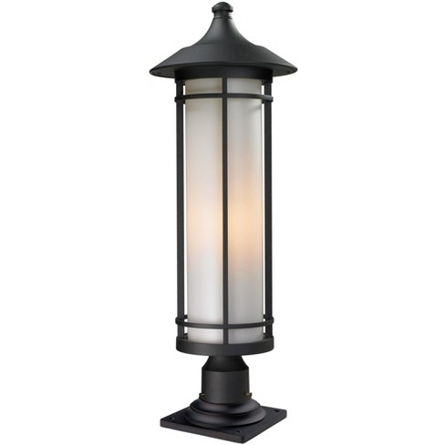 Z Lite 529phb 533pm Woodland 1 Light Outdoor Pier Mount Light With