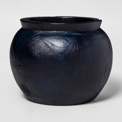 9.8  x 7.8  Teak Root Organic Wood Vase Blue - Threshold™