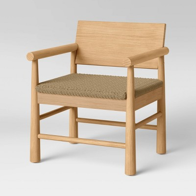 Nichols Rustic Wood Chair with Woven Seat Natural - Threshold™