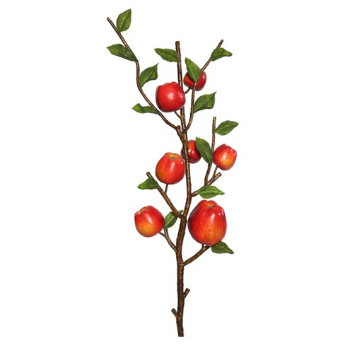 "Artificial Country Apples Spray (25"") Green/Red - Vickerman - image 1 of 1"