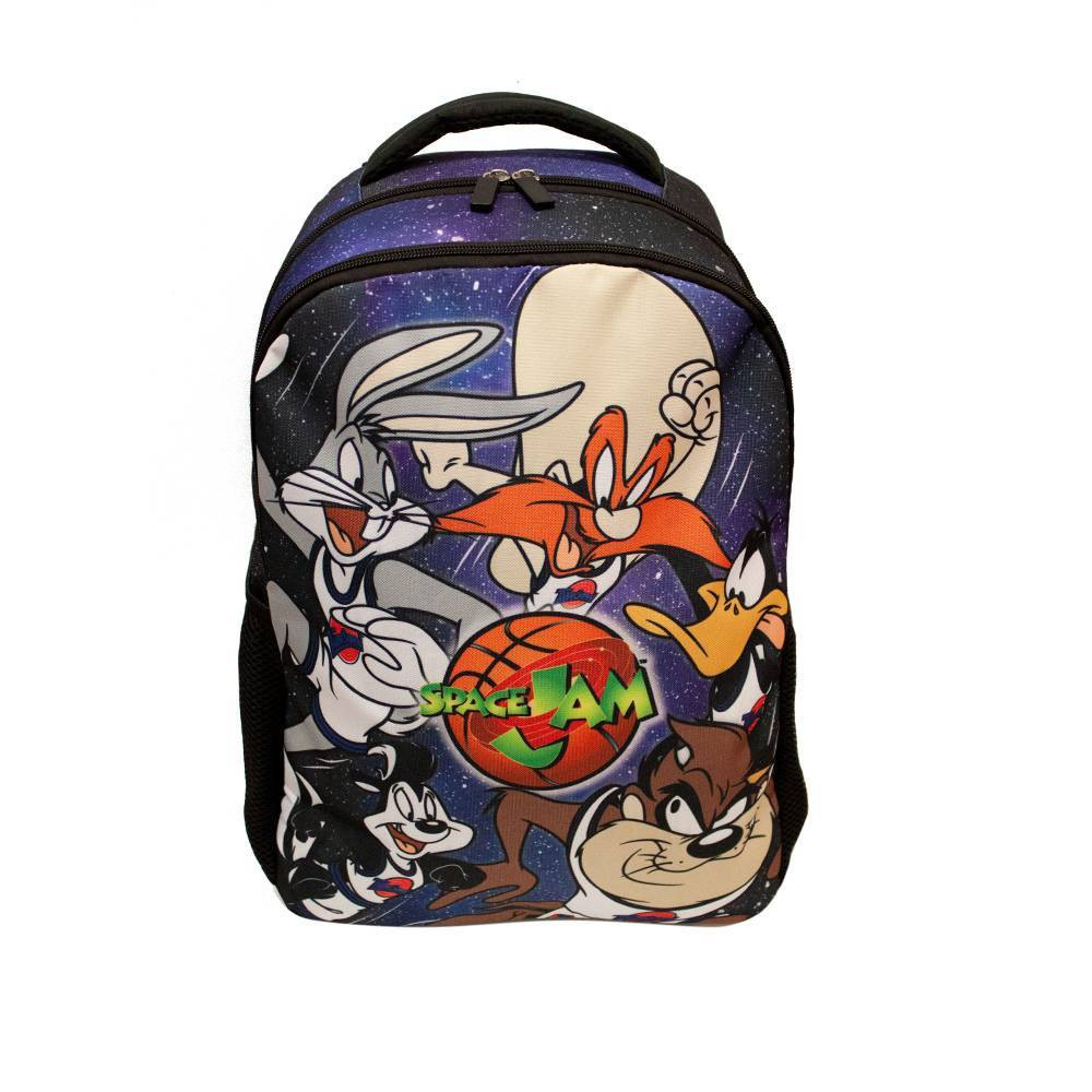 "Space Jam 18"" Backpack - Galaxy Blue, Black"