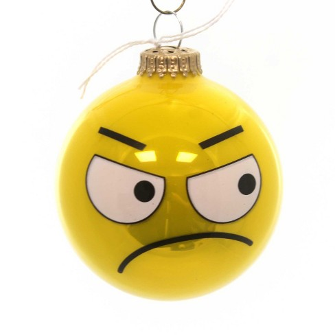 Holiday Ornaments Emoji Full Sun Ball Electronic Message Web Ideogram  - - image 1 of 2