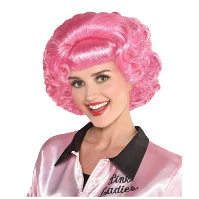 Grease Frenchy Pink Halloween Costume Wig