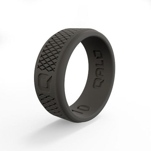 Qalo Men's Crosshatch Dark Gray Q2X Ring - image 1 of 4