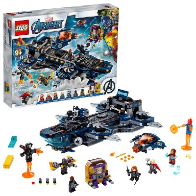 LEGO Marvel Avengers Helicarrier Building Toy with Action Minifigures 76153