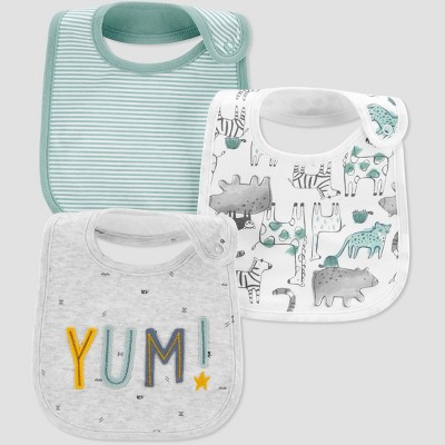 Baby 3pk Yum Bib - Just One You® made by carter's Mist Blue