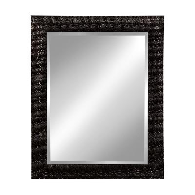 Kate & Laurel 23 x29  Coolidge Framed Wall Beveled Vanity Mirror Black